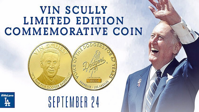 Vin Scully coin