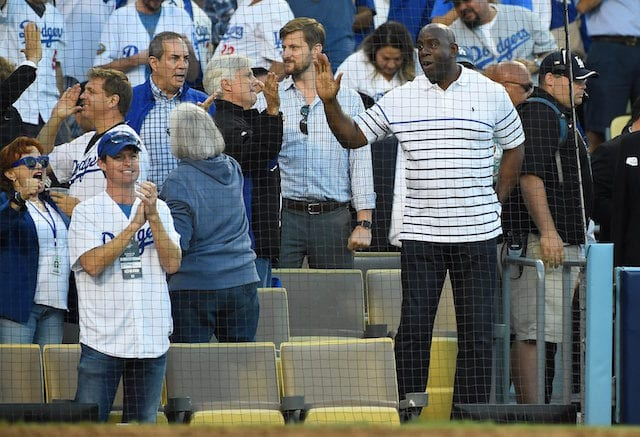Superior Lakers President Of Basketball Operations Magic Johnson To Remain Involved  With Dodgers