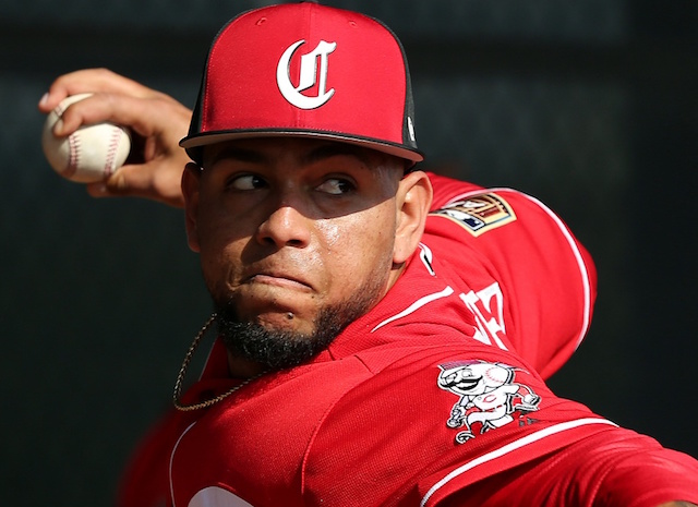 with the addition of the minor league right-handed pitcher, the