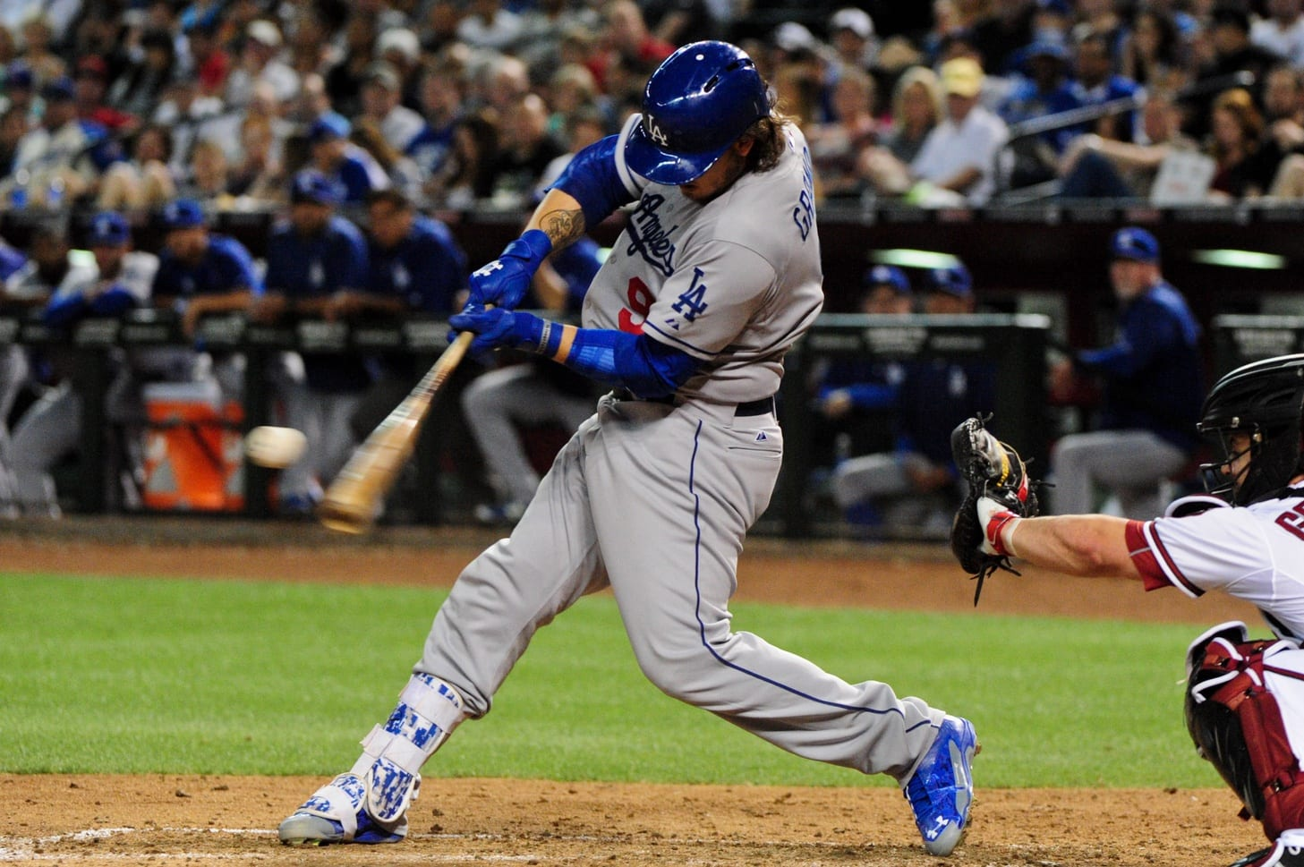 Yasmani Grandal Hits First Home Run With Dodgers (video)