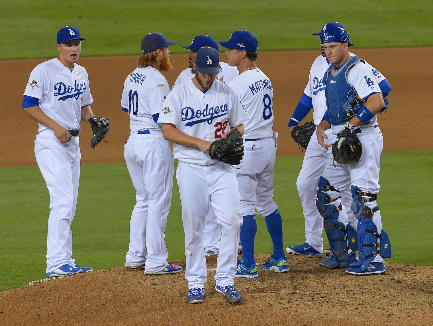 A.J. Ellis, Clayton Kershaw, Don Mattingly
