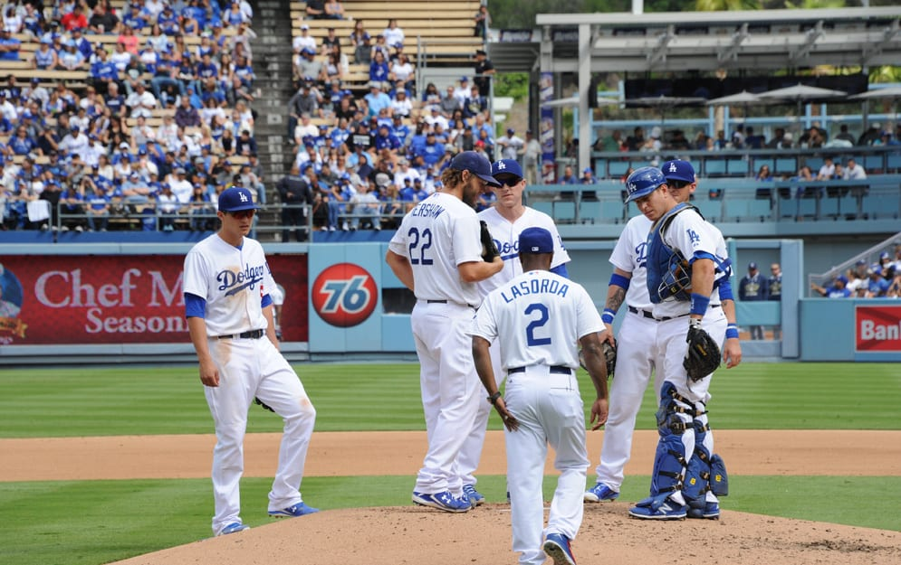 Dodgers Video: Acting Manager Jimmy Rollins Removes Clayton Kershaw