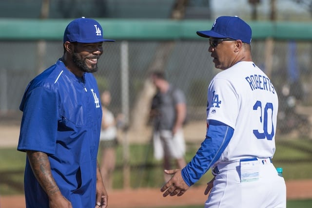 Howie-kendrick-dave-roberts-dodgers-2016-spring-training