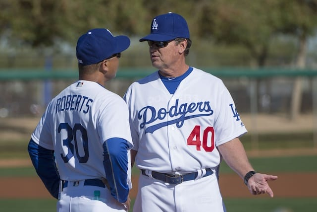 Rick-honeycutt-dave-roberts-dodgers-2016-spring-training