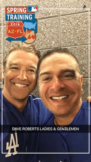 Kiké Hernandez, Dave Roberts face swap