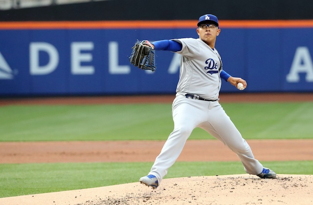Dodgers Video: Julio Urias Collects First Career Strikeout In Majors