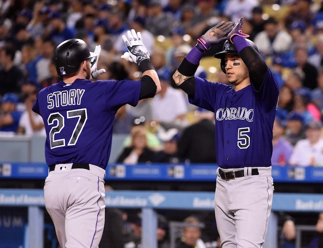 Rockies Chase Mike Bolsinger In 6th Inning To Snap Multiple Dodgers Winning Streaks