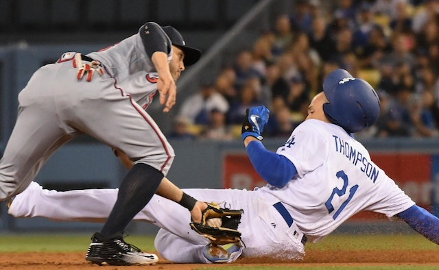 Recap: Trayce Thompson Has 3 Walks And 3 Stolen Bases In Dodgers Win Over Braves