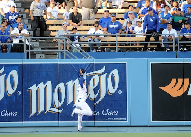 Dodgers Video: Trayce Thompson Robs Manny Machado Of Extra-base Hit And Rbi