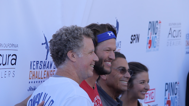 Recap Of Clayton Kershaw's Ping Pong 4 Purpose, Hosted By Will Ferrell