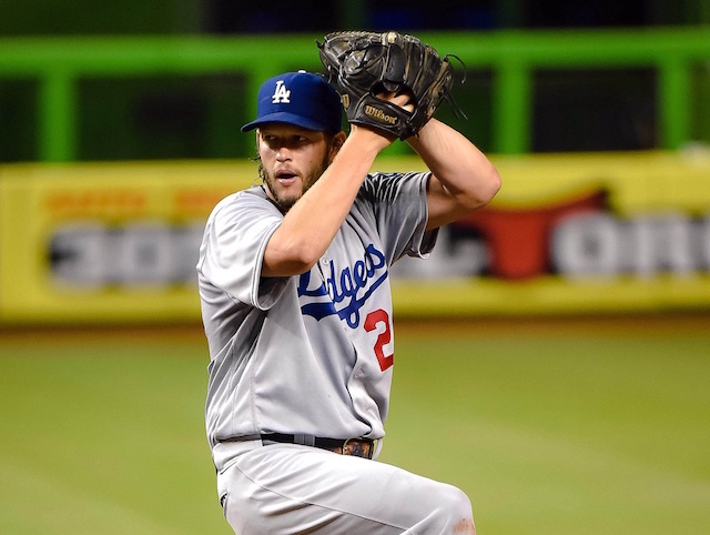 Los Angeles Dodgers pitcher Clayton Kershaw in a start at Marlins Park