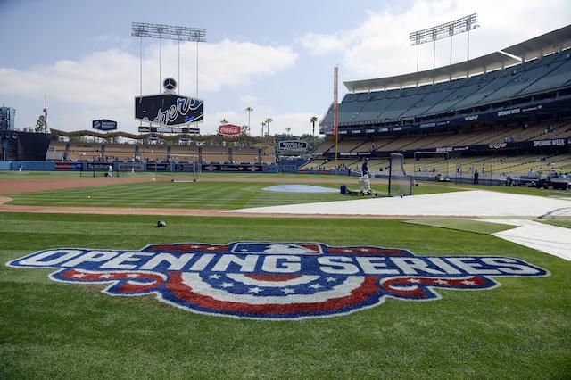 picture regarding Dodgers Schedule Printable named Los Angeles Dodgers 2018 Regular monthly Year Program - Dodger Blue