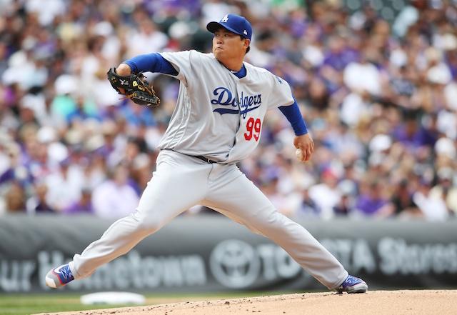Los Angeles Dodgers pitcher Hyun-Jin Ryu