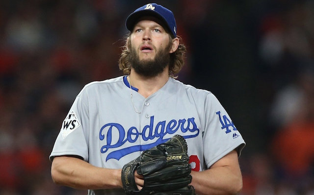 Los Angeles Dodgers pitcher Clayton Kershaw during the 2017 World Series