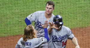 Dodgers, Kiké Hernandez, Joc Pederson, Justin Turner