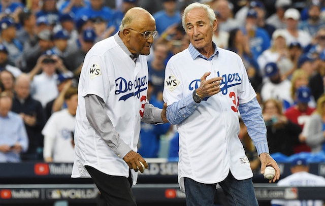 Sandy Koufax, Don Newcombe, Dodgers