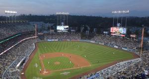 Dodger Stadium view, 2018 Opening Series, Los Angeles Dodgers