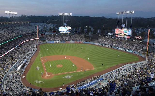 Dodger Stadium view, 2018 Opening Series, Los Angeles Dodgers
