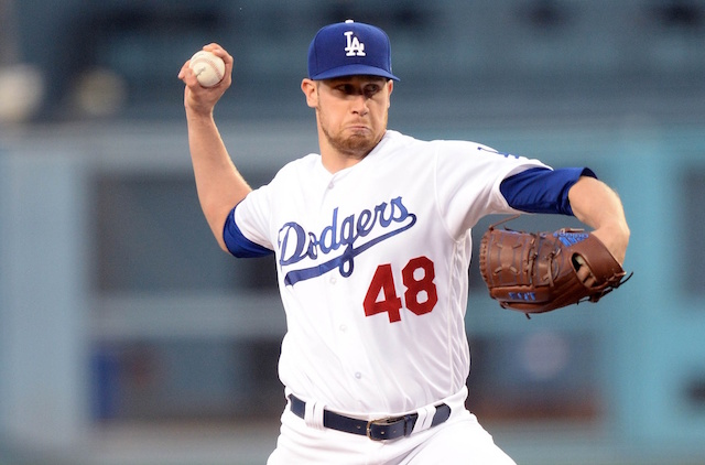 Los Angeles Dodgers pitcher Brock Stewart