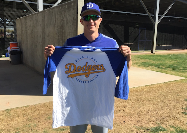 best service ad592 14ea2 Chase Utley Excited For UCLA Night At Dodger Stadium ...