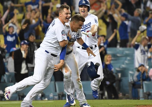 Kiké Hernandez, Joc Pederson, Ross Stripling, Dodgers win