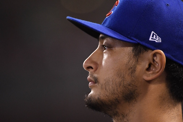 Chicago Cubs starting pitcher Yu Darvish
