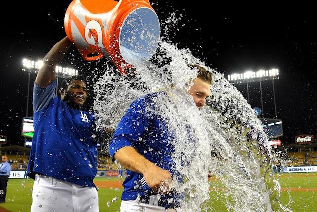 Brian Dozier, Yasiel Puig, Dodgers walk-off win