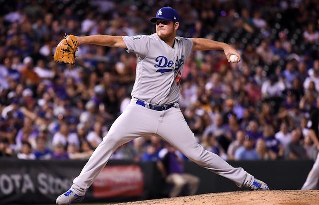 Los Angeles Dodgers pitcher Caleb Ferguson