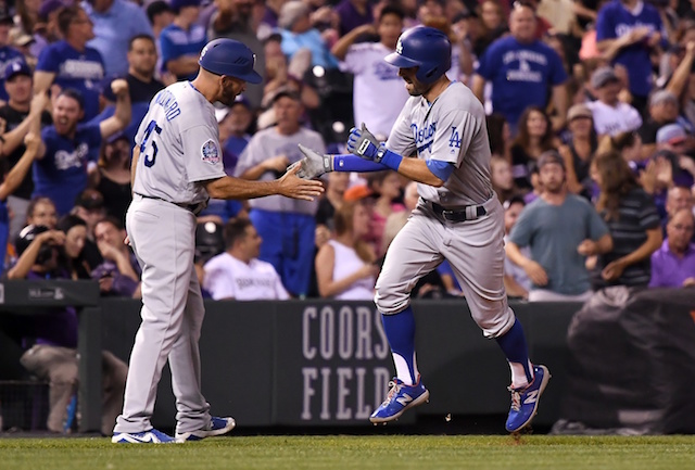 914734269f6 Dodgers Beat Rockies Behind Home Runs From Chris Taylor And Brian Dozier In  9th Inning