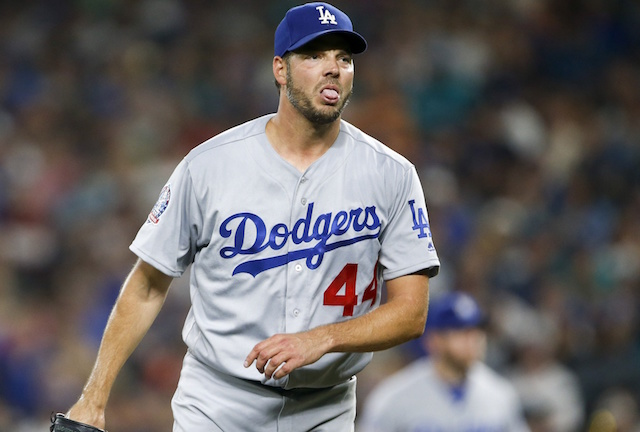 Los Angeles Dodgers pitcher Rich Hill