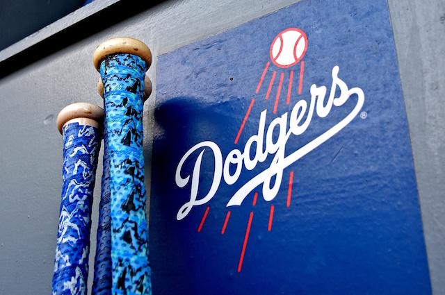 Dodgers logo, bats
