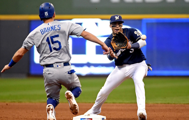 Austin Barnes, 2018 NLCS, Brewers, Dodgers