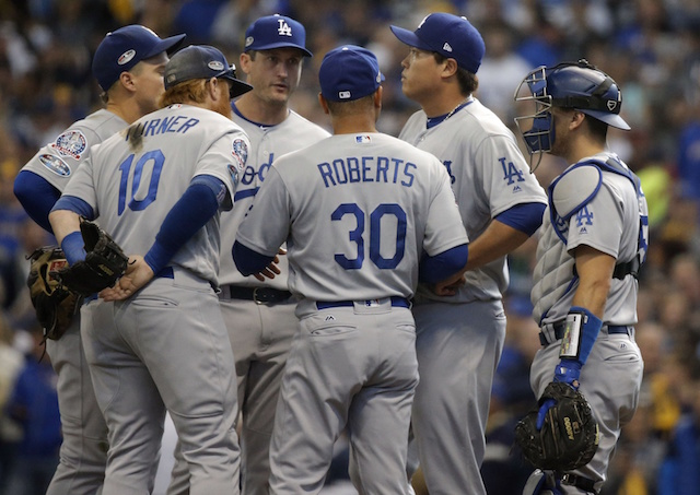 0d54fcab0 Dodgers News  Dave Roberts Deemed Removing Hyun-Jin Ryu Early In ...