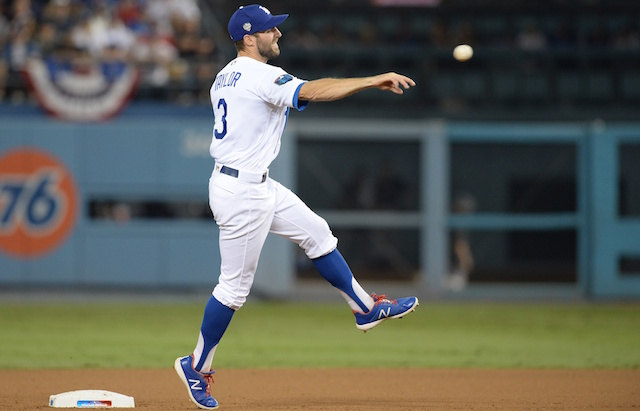 sale retailer 557e3 35fdc Dodgers News: Chris Taylor Ranked Top-10 Second Baseman For ...