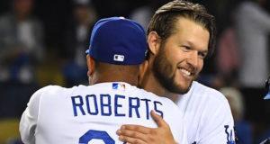 Clayton Kershaw, Dave Roberts, Dodgers win, 2018 NLDS