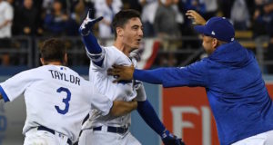 Cody Bellinger, Matt Kemp, Chris Taylor, Dodgers walk-off, 2018 NLCS