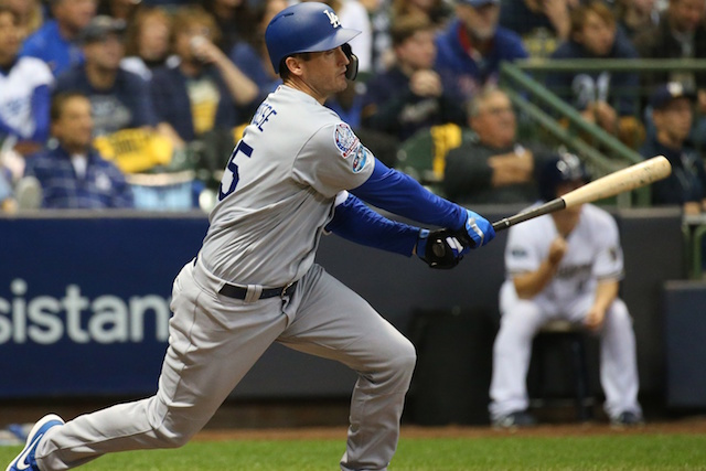 Los Angeles Dodgers infielder David Freese, 2018 NLCS