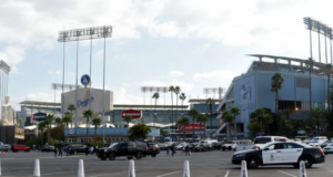Dodger Stadium parking lot