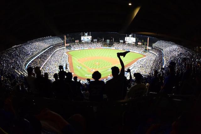 Dodger Stadium view, 2018 NLDS