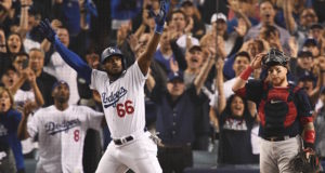 Kobe Bryant, Yasiel Puig, 2018 World Series