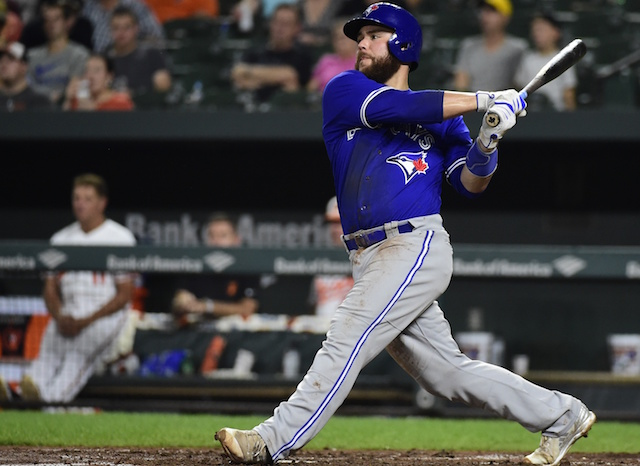Jays trade C Martin to Dodgers for SS Brito, RHP Sopko