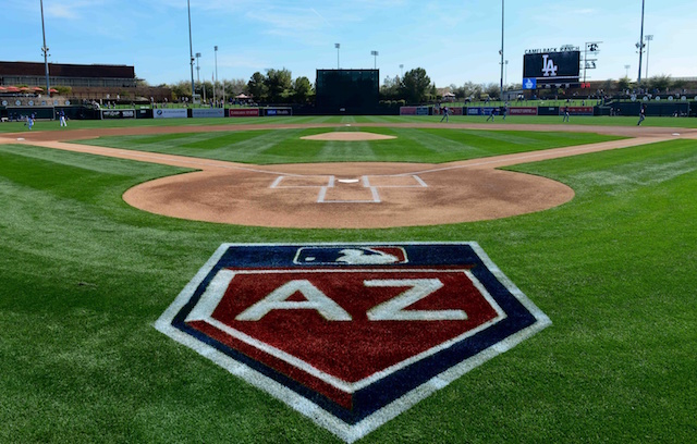 Arizona logo, Camelback Ranch view
