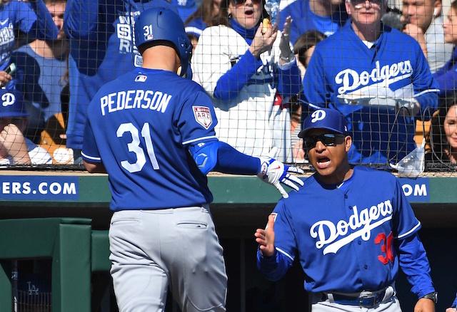 reputable site f9e77 16fdf Dodgers News: Dave Roberts Praises Joc Pederson's Maturity ...