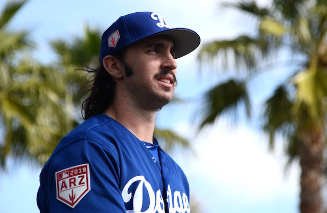 Los Angeles Dodgers pitching prospect Tony Gonsolin during Spring Training at Camelback Ranch