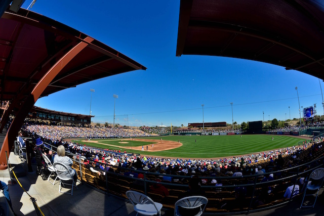 Camelback Ranch view during Los Angeles Dodgers Spring Training