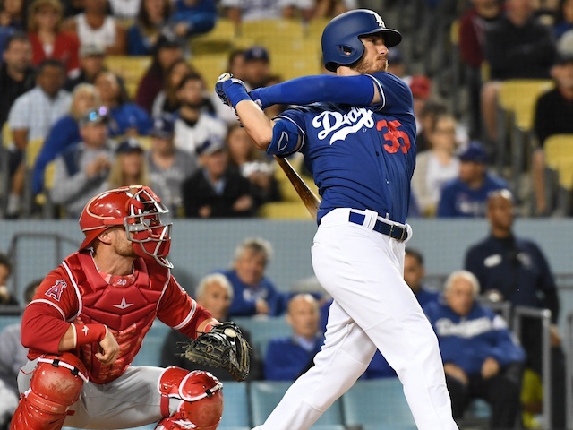 1339d623a Dodgers Highlights  Cody Bellinger Launches Three-Run Home Run Against  Angels In Freeway Series Finale