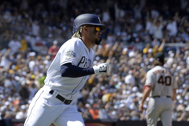 eda2af3da Padres  Fernando Tatis Jr. Becomes Youngest Player To Start   Record Hit On  Opening Day Since Adrian Beltre With Dodgers In 1994