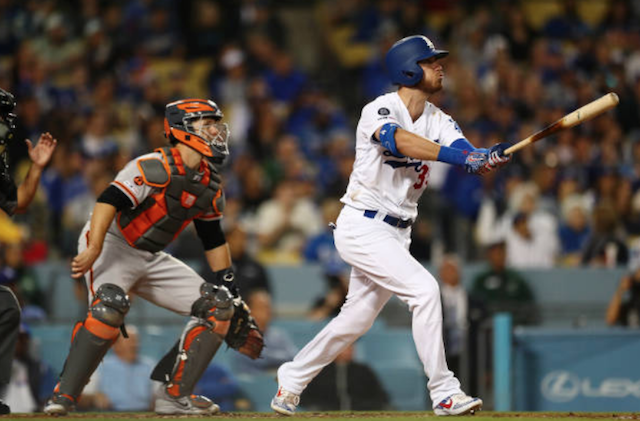 Los Angeles Dodgers All-Star Cody Bellinger hits a grand slam off San Francisco Giants starting pitcher Madison Bumgarner