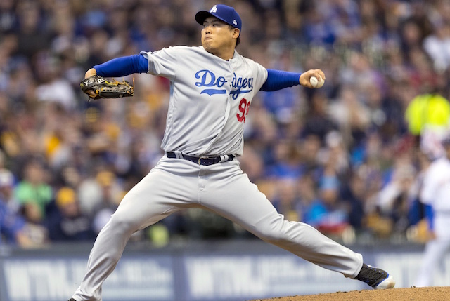 e75dba24d Dodgers News  Hyun-Jin Ryu Was  Cautious  During Early Innings Of ...