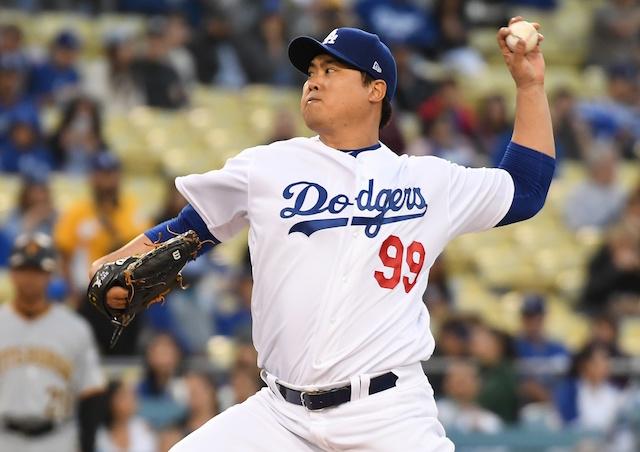 42e651c68 Dodgers News  Rich Hill Calls Hyun-Jin Ryu  100% Underrated . Richard  Mackson-USA TODAY Sports